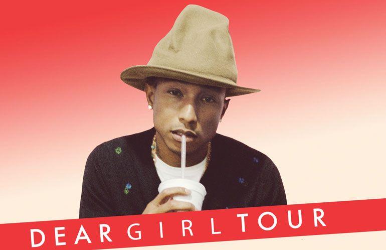 Pharrell Williams atua a 3 de outubro no MEO Arena, em Lisboa