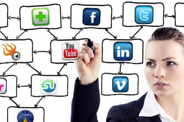 social media + news infographic