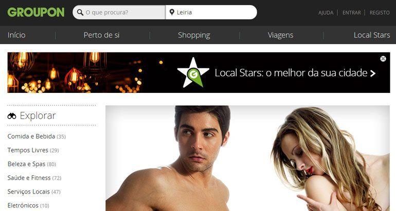Novo site da Groupon