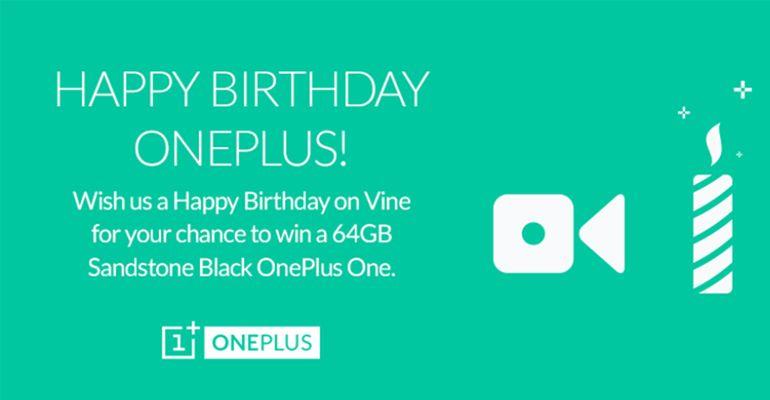 OnePlus One aniversário