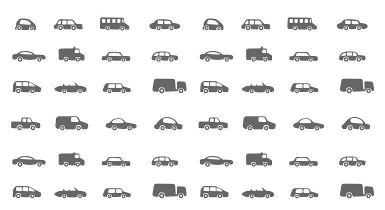 informação sobre as preferências por tipo de automóvel em todo o mundo