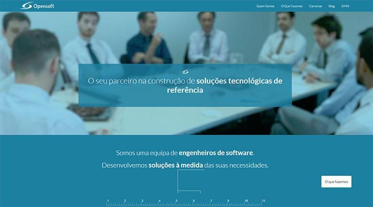 Novo site Opensoft