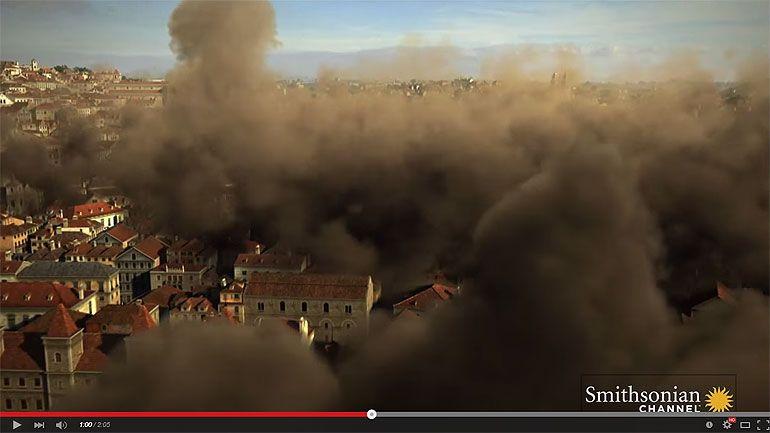 Vídeo da reconstituição do Terramoto de 1755
