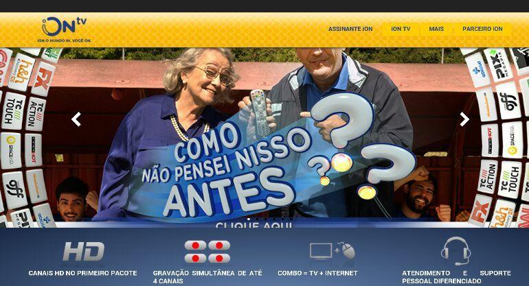 iON TV campanha publicitária