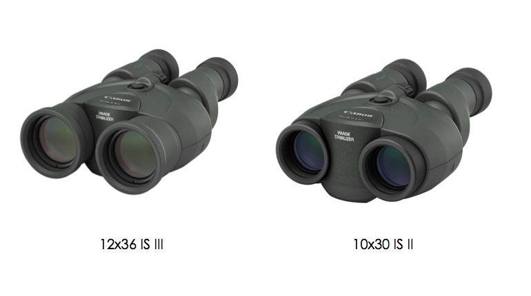 Binóculos Canon 12x36 IS III e 10x30 IS II
