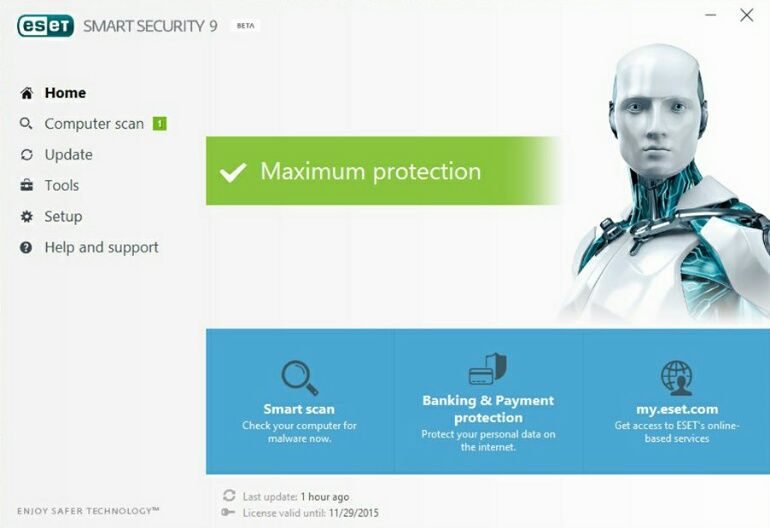 Versão beta do ESET Smart Security 9