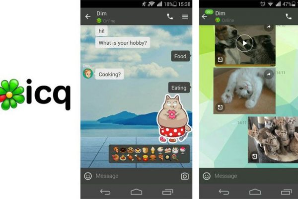 app de mensagens ICQ