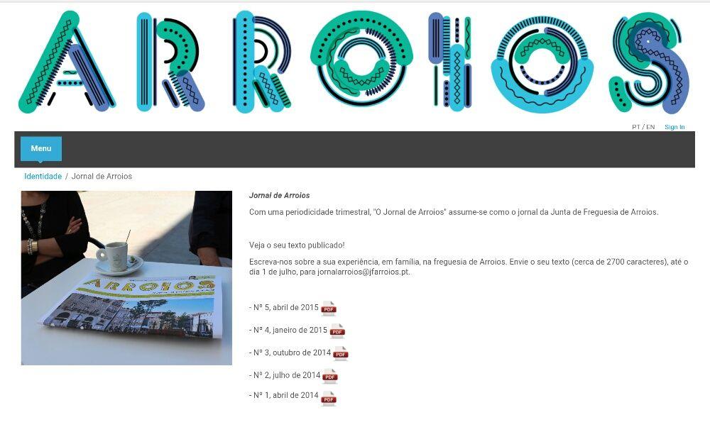 Jornal de Arroios com QR-Code