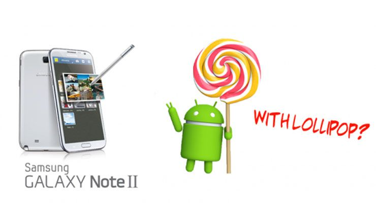 Samsung Galaxy Note 2 Lollipop