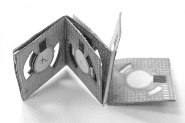 Bateria feita de Origami