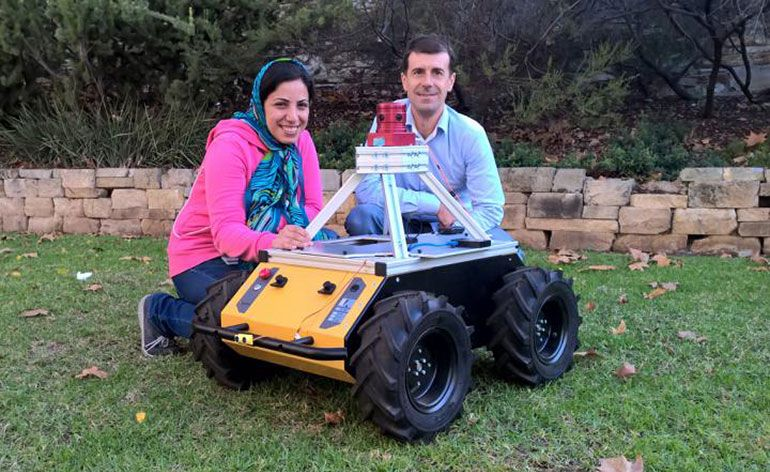 Robot com visão de inseto - The University of Adelaide