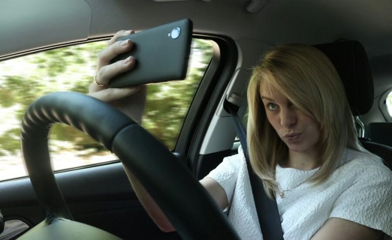 Selfie no carro