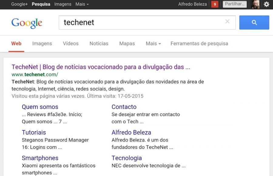 Tablet techenet num pesquisa sobreGoogle