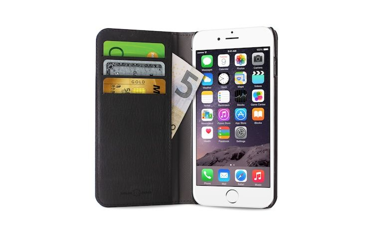 capa multifuncional em pele para iPhone 6 e iPhone 6 Plus