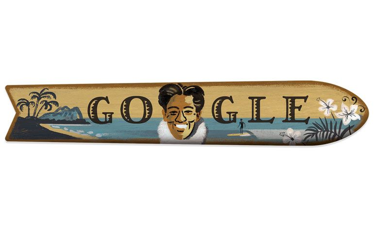 google doodle Duke Kahanamoku