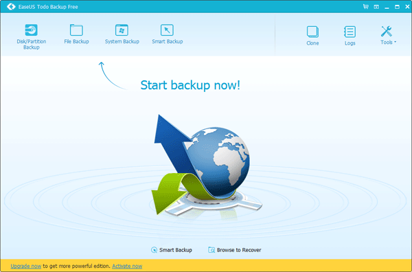 EaseUS Todo Backup_main window