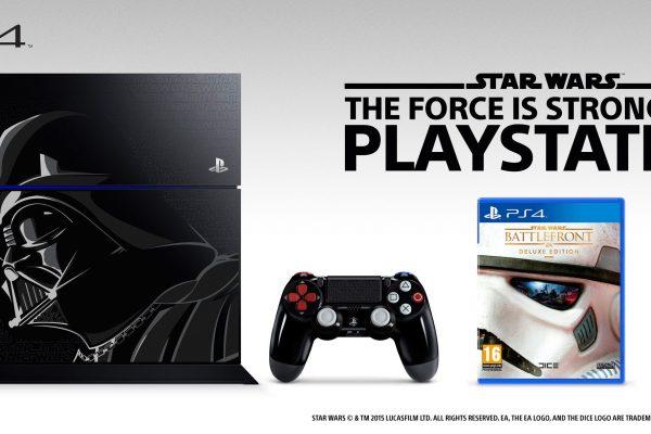 PS4 Edição Star Wars inspirada em Darth Vader