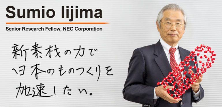 Sumio Iijima recebeEuropean Inventor Award