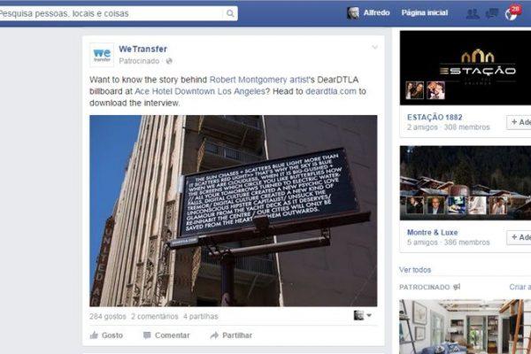 novo serviço de publidade do Facebook