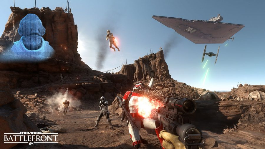 Star Wars Battlefront shooting Star Wars, Star Wars - The Force Awakens, Star Wars Battlefront, versão beta