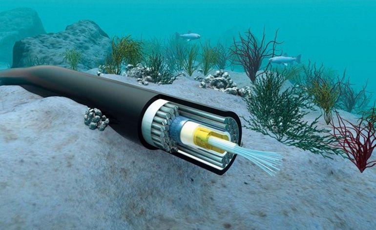 Brasil cabo de fibra ótica submarino