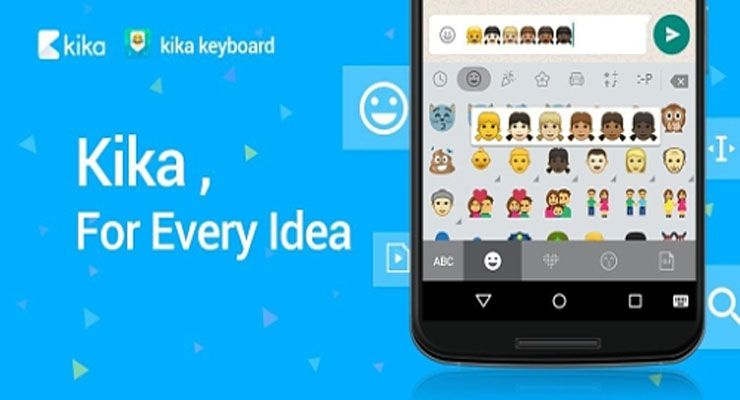 Kika Keyboard WhatsApp emojis
