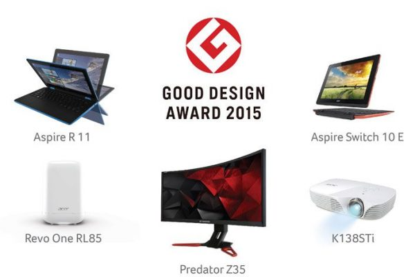 Acer vence cinco prémios Japanese Good Design