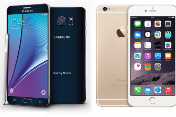 samsung galaxy note 5 vs iphone 6s plus galaxy note 5