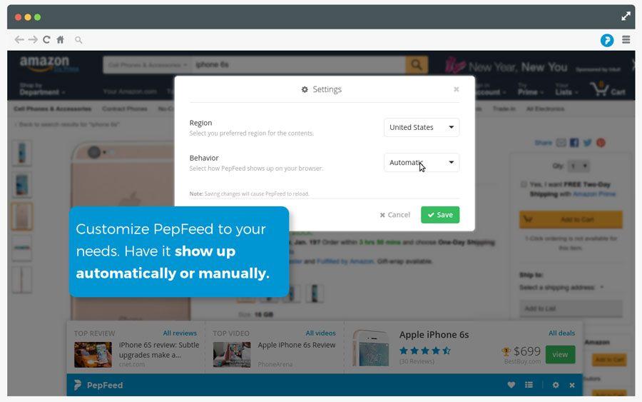 PepFeed4 assistente de compras, Chrome, extensão, google chrome, navegador, PepFeed