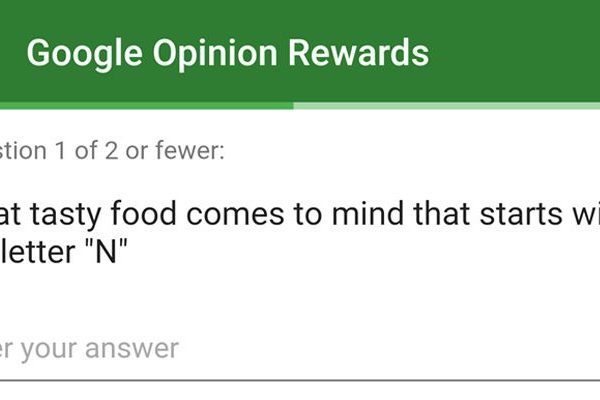 Google Opinion Rewards Android N