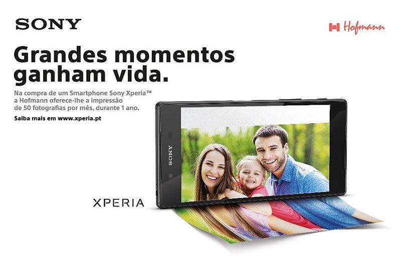 Compre um smartphone Xperia e ganhe a impressão de 50 fotos por mês, durante um ano