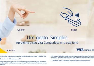 Visa explica as vantagens da tecnologia Contactless com nova campanha multimeios