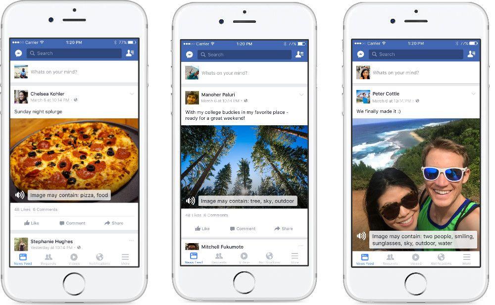 Facebook lança Texto Automático Alternativo para invisuais