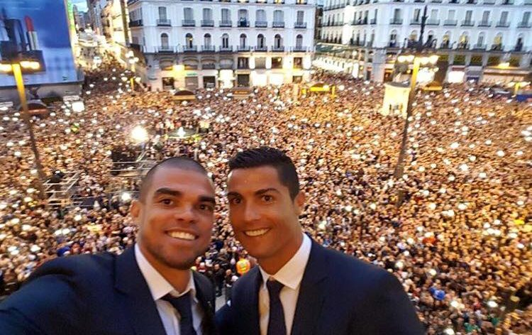selfie de ronaldo e pepe