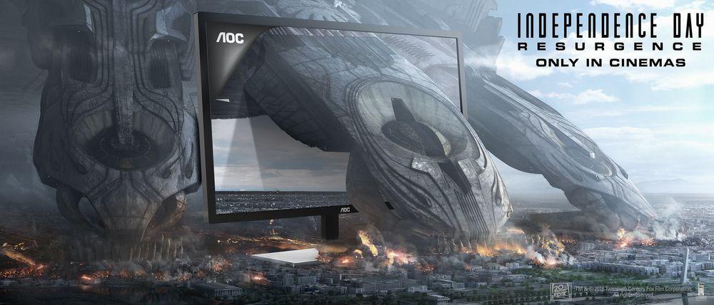 Independence Day está de volta com modernos ecrãs da AOC