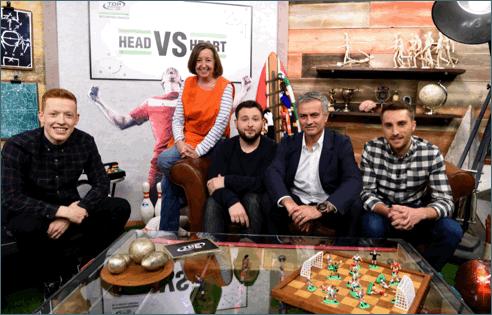 josé mourinho prega partida a apresentador de show