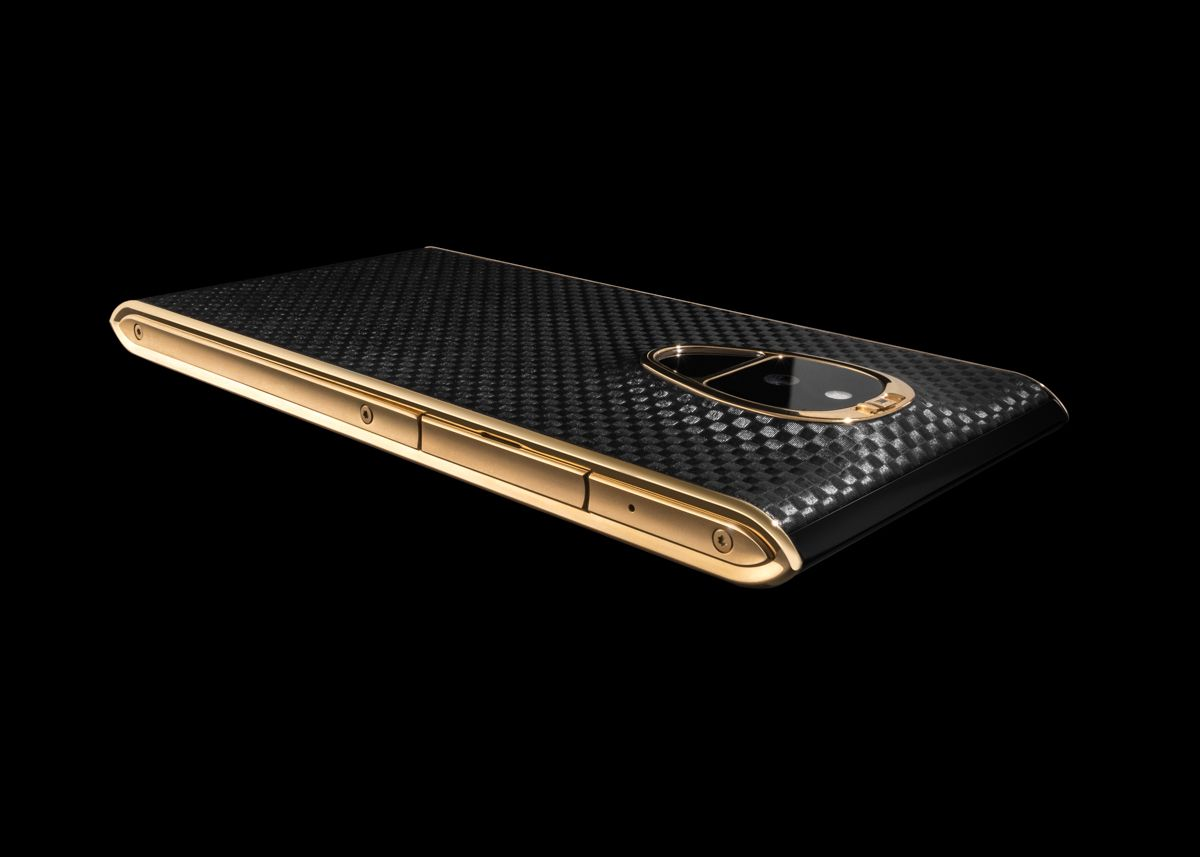 Solarin: Side - Fire Black Carbon + Yellow Gold
