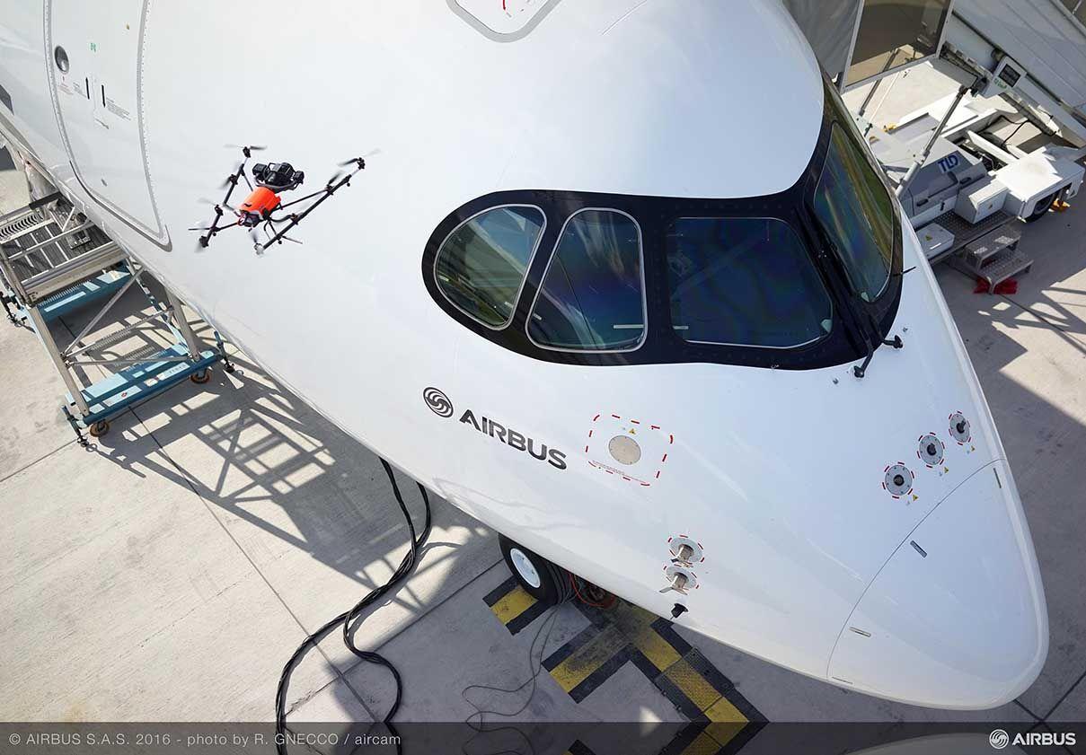 Airbus inova na inspeção de aviões