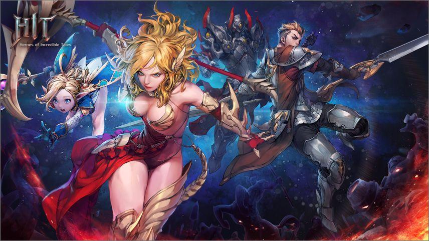 HIT gallery art dispositivos móveis, Heroes of Incredible Tales, HIT, jogo, NAT Games., Nexon, RPG hack-and-slash, RPG móvel