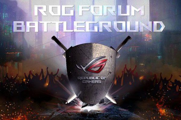 ASUS anuncia campanha de comunidade ROG Forum Battleground