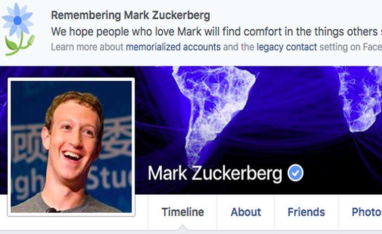 Facebook declara erroneamente a morte de milhões de usuários