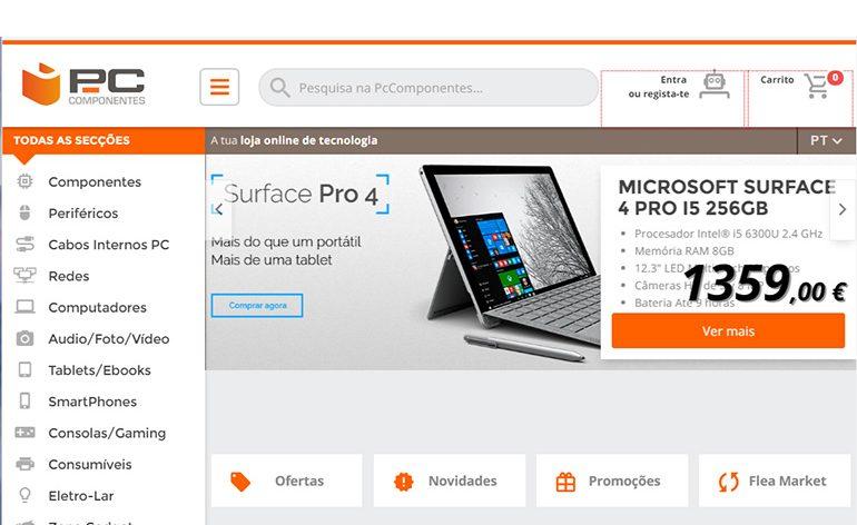 PcComponentes aposta em Portugal com website próprio