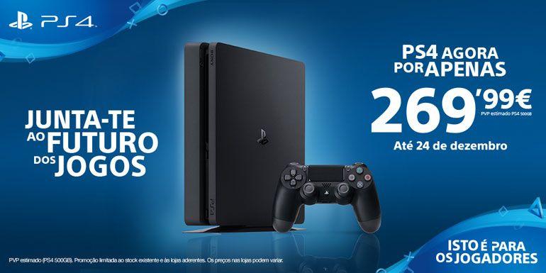 Neste natal a PlayStation 4 está disponível por apenas 269,99 €