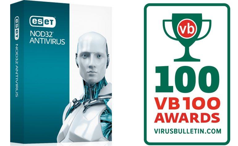 ESET NOD32 é a primeira solução de segurança a conquistar 100 Prémios VB100