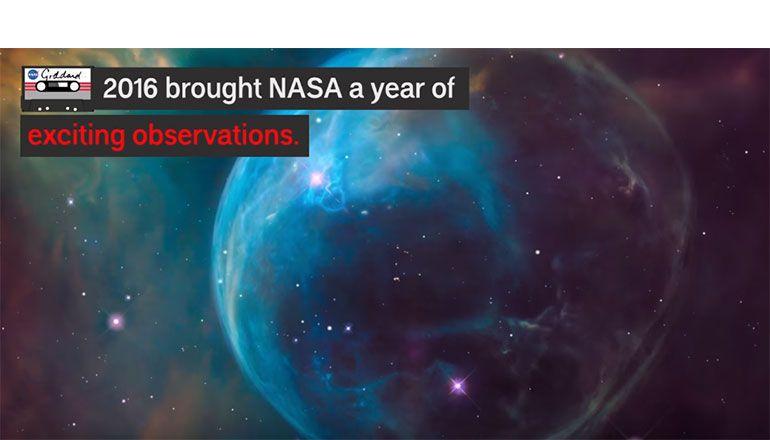 NASA cria vídeo com os destaques de 2016