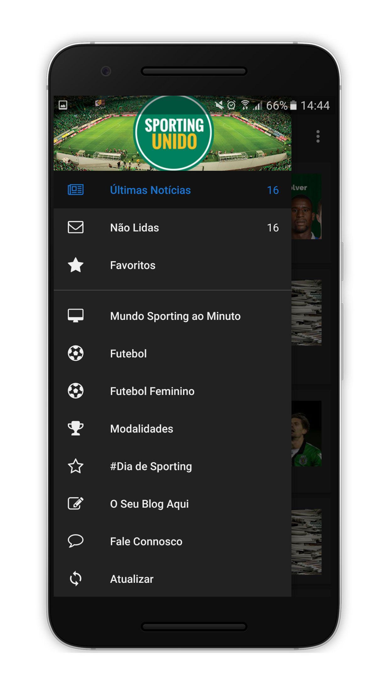 SportingUnido Android Screenshot 1 Android, aplicação, App, futebol, Google Play, Notícias, Sporting Clube de Portugal, Sporting Unido