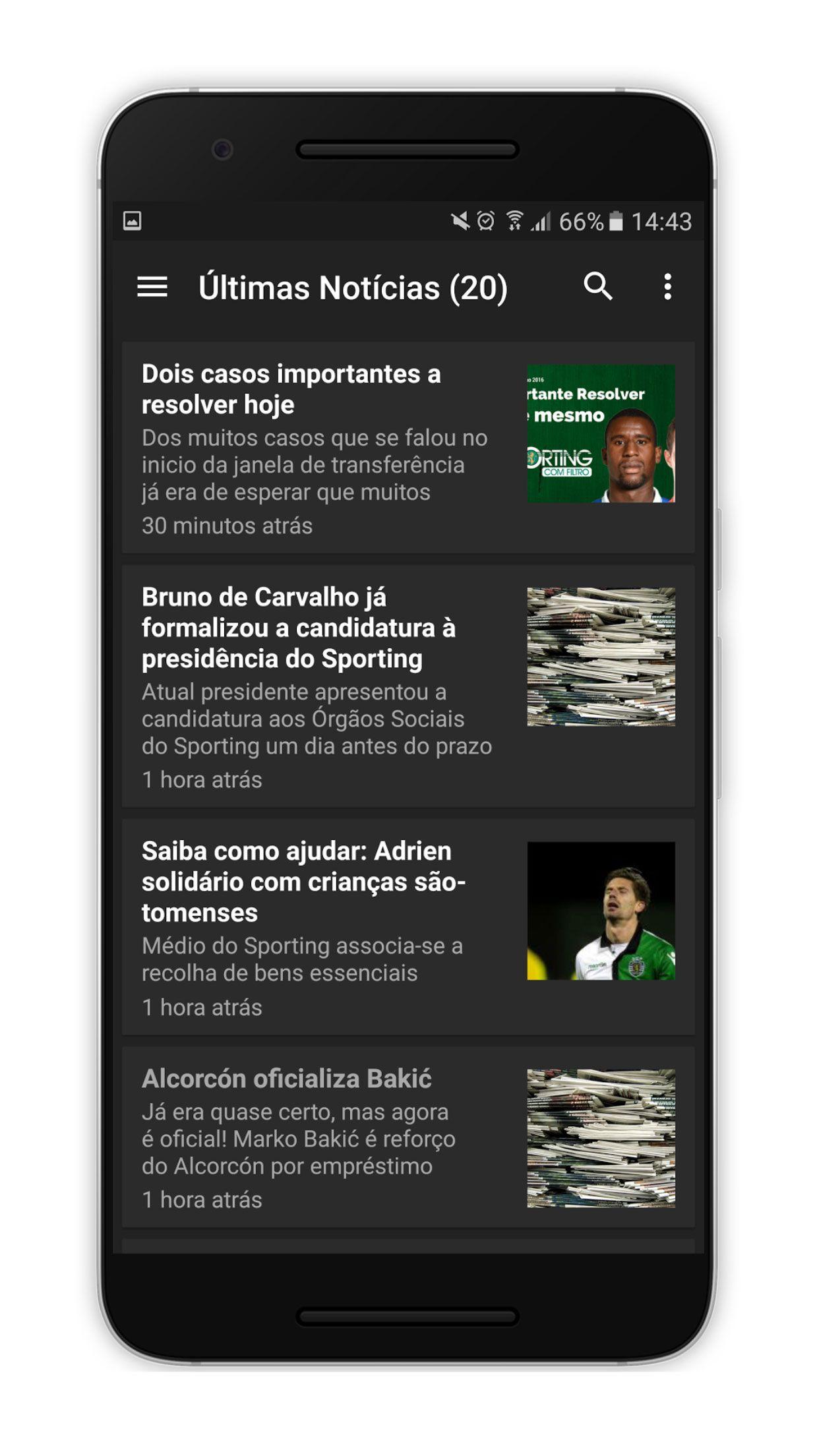 SportingUnido Android Screenshot 2 Android, aplicação, App, futebol, Google Play, Notícias, Sporting Clube de Portugal, Sporting Unido