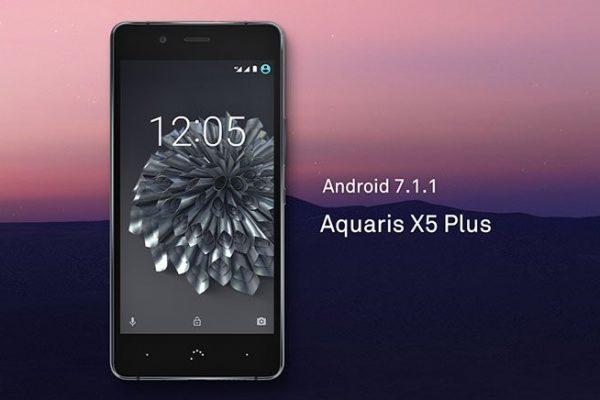 BQ Aquaris X5 Plus recebe atualização Android 7.1 Nougat