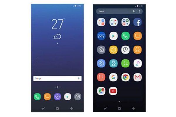 Samsung Galaxy S8 ícones