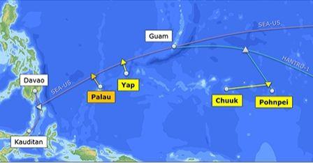 Cabos submarinos de 100Gbps ligarão Palau e a Micronésia